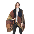 Ladies' Reversible Fashion Wrap Shawl One Size Burgundy Plaid