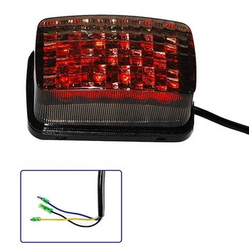 OVOVS Newest Led Tail Light Smoke Lens Tail Brake Rear Light for Yamaha ATV UTV 350 400 660 250 4x4 Off-Road