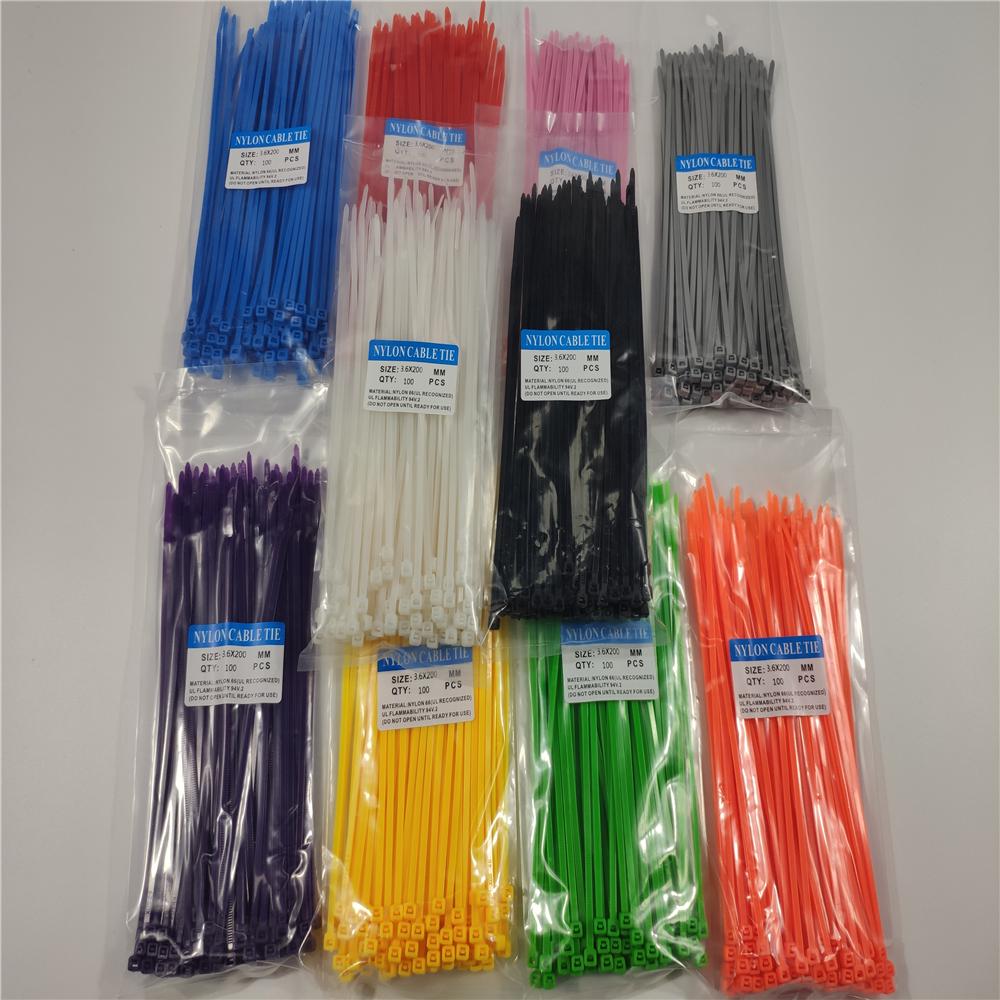 Factory Direct Self-Locking Nylon Cable Ties UV Resistant Zip Ties Plastic Cable Zip Ties