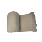 Pashmina Stoles Scarf Luxury Warm Plain Embossed Cashmere Stole Solid Color Wool Fleece Winter