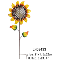 Harvest hand made sunflower bird feeder ground stake decoration