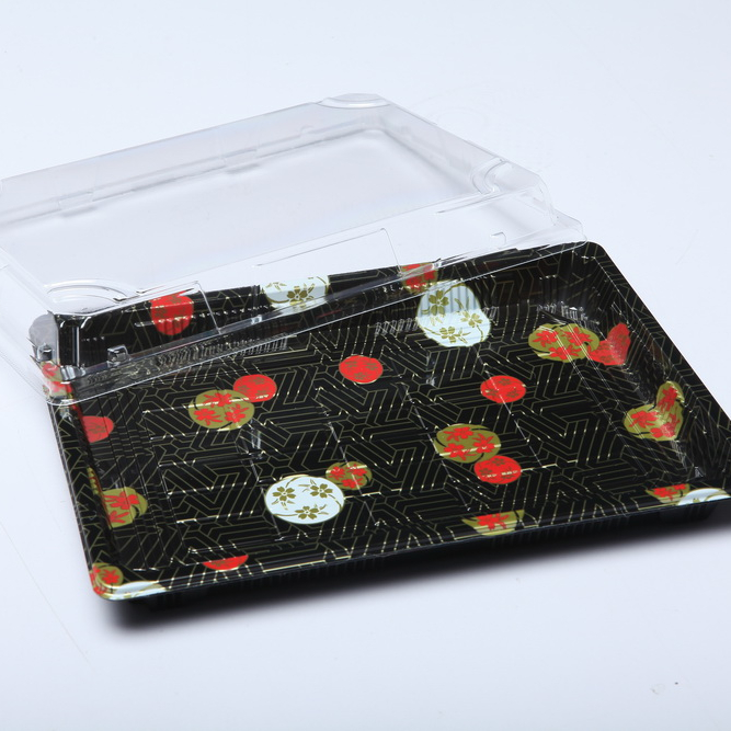 wholesale most popular disposable plastic sushi display tray ,food tray container
