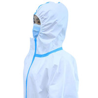 Disposable personal full pe hazmat nonwoven ppe coverall suit