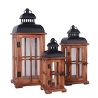 Showpieces Candle Holders Customized Handmade Candle Holder For Home Decor Wooden Lanterns Showpieces For Home Decoration