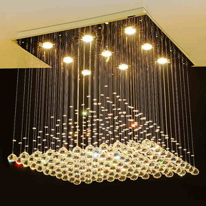 Wholesale European antique long crystal lighting living room ceiling raindrop chandelier