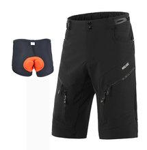 Мужские велосипедные шорты ARSUXEO, свободные спортивные шорты для горного велосипеда, велосипедные шорты для катания на горном велосипеде, Тр...(China)