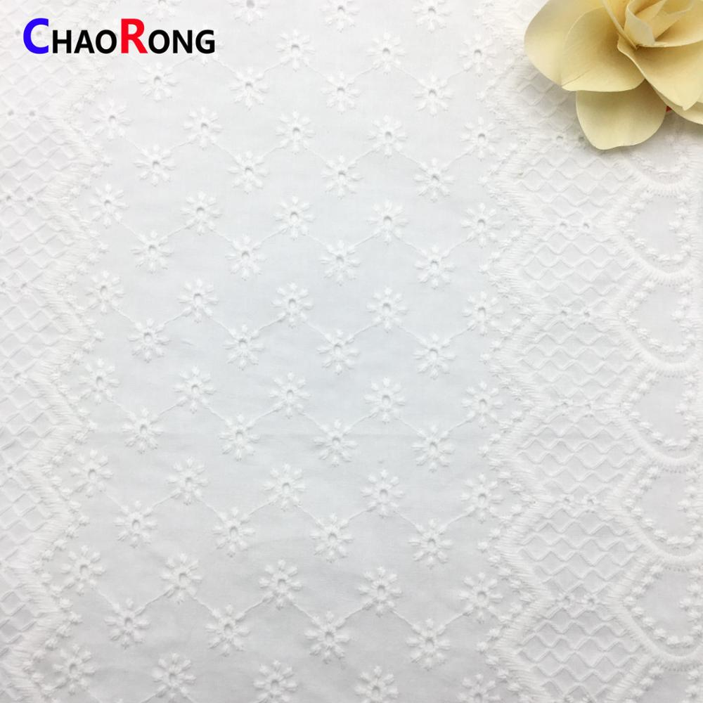 CRF0525 wholesale 100% cotton trim lace fabric for women wedding dress