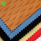 China's production of artificial synthetic leather thickness of design pu garment leather