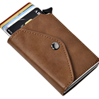 Wallet Card Wallet Mens Small RFID Blocking Genuine Leather Credit Card Business Name Card Holder Wallet