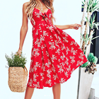 Custom Wholesale Ladies 2019 Fashion Clothing for Women Sexy Casual Floral Summer Dresses