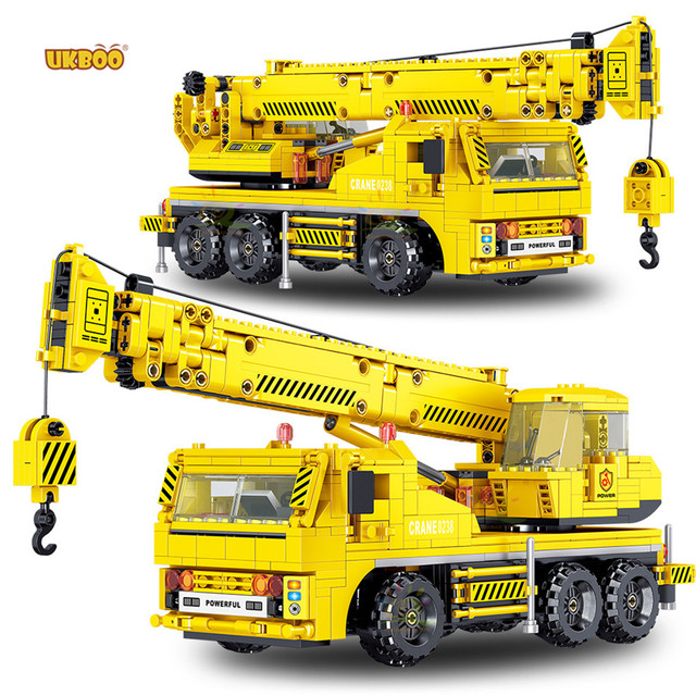 New 665pcs Building Blocks City Engineering Machine Car-nobox