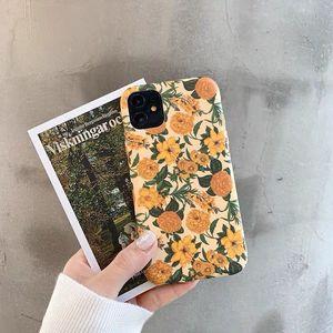 Colorful Flower Floral Leaf Phone Case For iphone 8 Plus 6 6S 7 X XS Max XR Case For iphone 11 11Pro Max Soft Back Cover