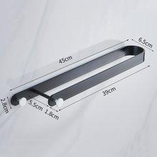 Настенная u-образная вешалка для полотенец, алюминиевый держатель для полотенец, крючок, подвесная барная полка для ванной комнаты, органай...(Китай)