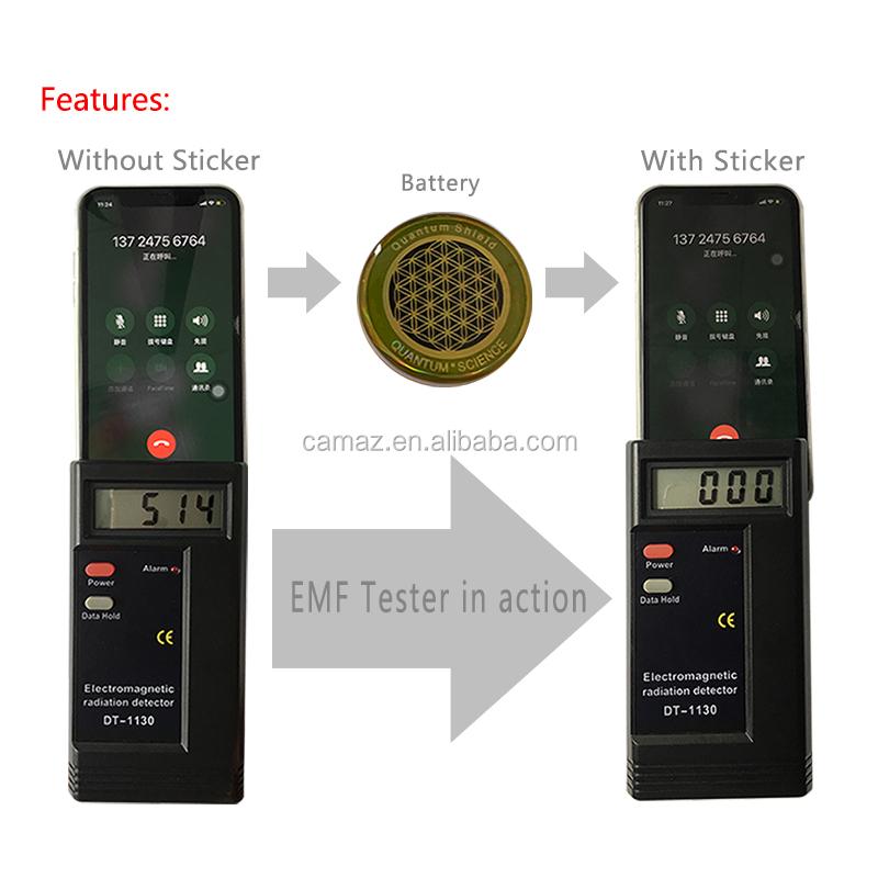 Wholesale energy quantum shield anti radiation sticker for mobile phone . EOM Logo .