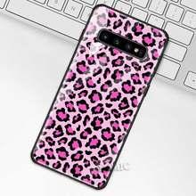 Чехол с леопардовым принтом для samsung Galaxy S10 S10e S9 S8 Plus A70 A50 A30 Note 9 10 + 5G чехол из закаленного стекла для телефона(Китай)