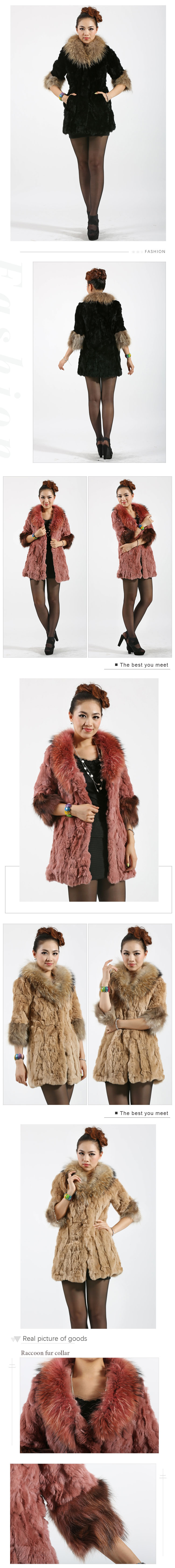khaki long fur coat ladies winter rex rabbit fur coats with fur collar