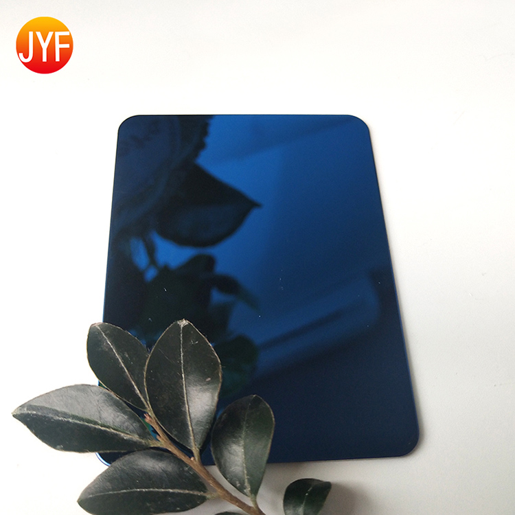 A3140 Delicate Good Selling Best 201/304/316 Grade Sapphire Blue Mirror Stainless Steel Wall Decorative Sheet