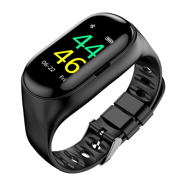 Hot product 2 in 1 Smart Bracelet With Heart Rate Monitor Fitness and tws wireless earphone headphone фото