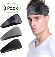 wide sport headband workout hairband high elastic moisture running fit yoga sweatband quick dry headbands custom logo free