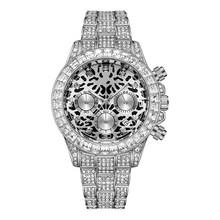 Rolexable aaa хип-хоп золотые часы для мужчин полностью бриллиантовые мужские часы лучший бренд класса люкс Iced Out Мужские кварцевые часы с календа...(Китай)