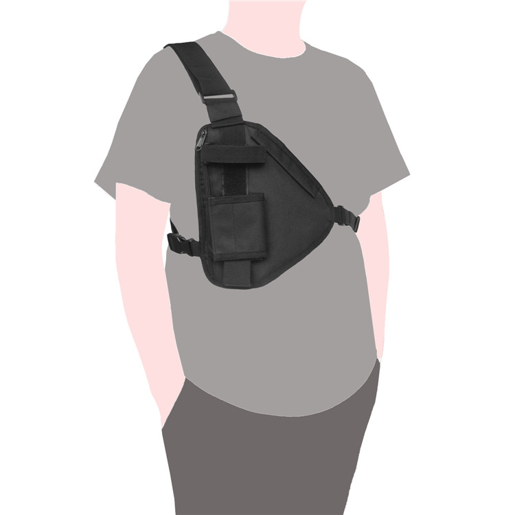 Outdoor Crossbody One Radio Chest Rig Harness Bag