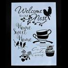 Afternoon tea DIY Drawing Template Stencil for Journal/Diary/Calendar/Planner/Scrapbook A4 Size Wall Painting Stencil