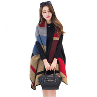 E468 New Women Winter Warm Travel Cashmere Scarves Shawls Wool Cloak Cape Pashmina Poncho Shawl Scarf