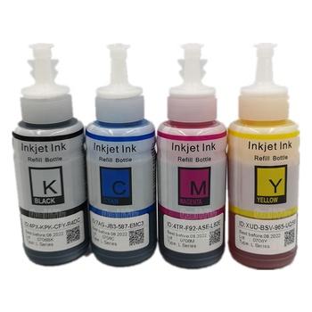 T6641 T6642 T6643 Compatible Original Bulk Dye Ink Bottle Refill Inkjet Ink For Epson Printer L100 L