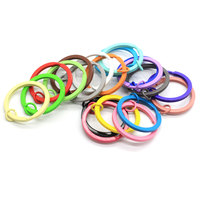 Wholesale Cute Newest Round Circle Iron Colorful Key Chains Accessories Beautiful for Home or Car Keys Ornament