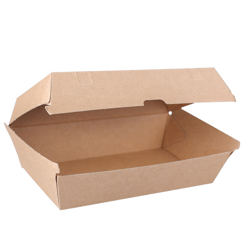 Hot Selling Bruin Kraftpapier Burger Doos Hamburger Box