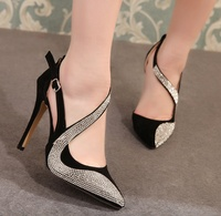 SS0182 Women banquet stiletto heel shoes 2019 ladies pumps rhinestone wedding shoes