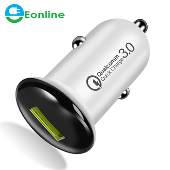 Eonline Car Charger For phone Quick Charge 3.0 Fast Charging For iPhone X XR XS MAX E Car USB Charger For Samsung S9 S8 Xiaomi