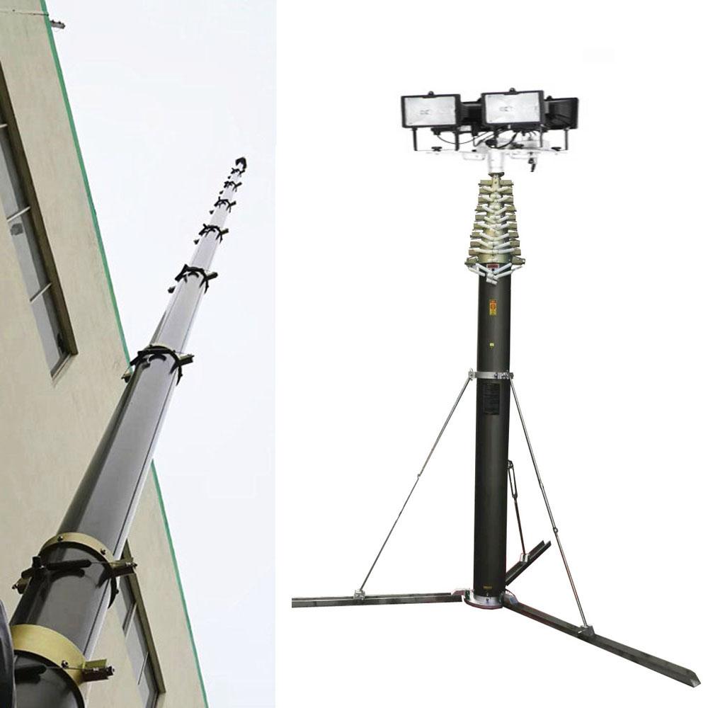 8 м портативные пневматические телескопические полевые мачты со штативом