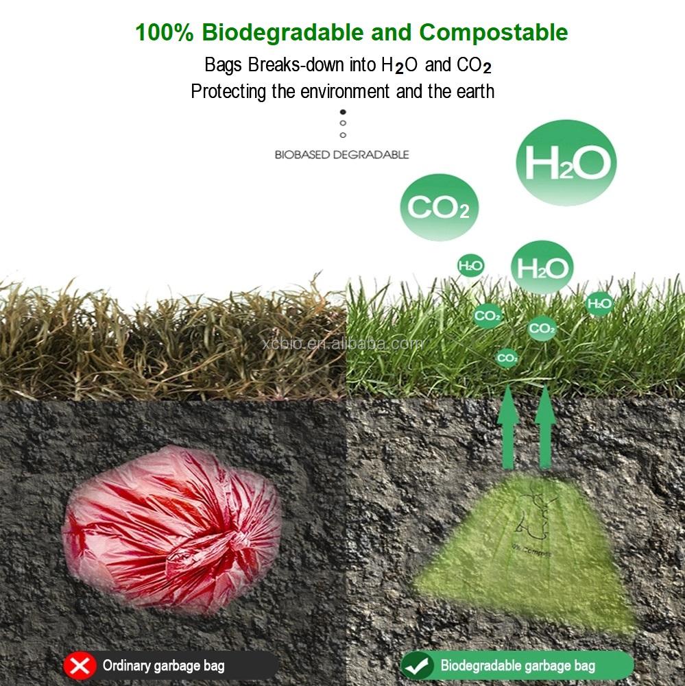 100% Biodegradable Compostable Pet Dog Poop Bag Dog Waste Bags