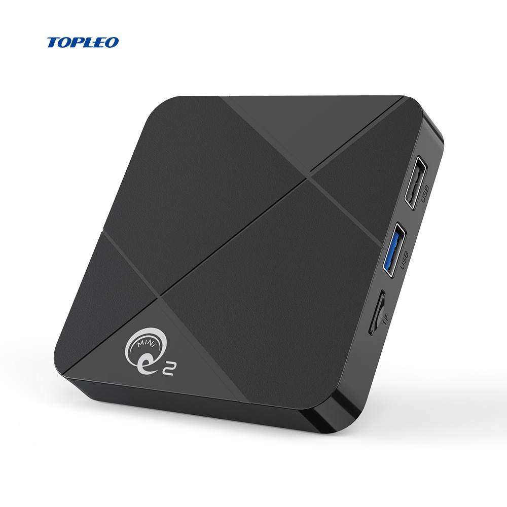 Elegant shape android iptv player Topleo mini Q2 Android 9.0 4GB RAM 32GB ROM smart box android tv