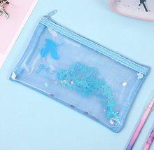 Цветной сетчатый футляр для файлов Dream, 1 шт., прозрачный чехол-карандаш из ПВХ для студентов, сумка для хранения, корейские Канцтовары, школь...(Китай)