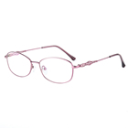 Customization Ladies comfort Alloy material red frame glasses brand designer For Women