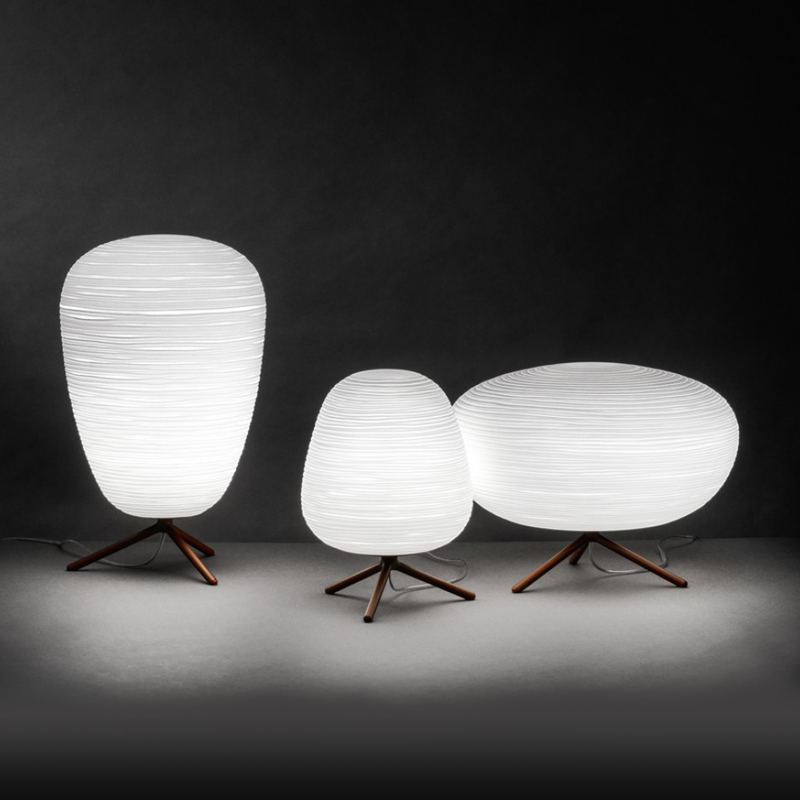 modern simple milk white <strong>spiral</strong> pattern led light coffee table led glass bedside table light