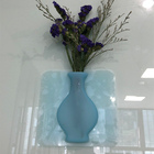 2019 Super September Reusable Suction Environmental Lightweight Elegant Silicone Wall Flower Decoration Vase for Home Office