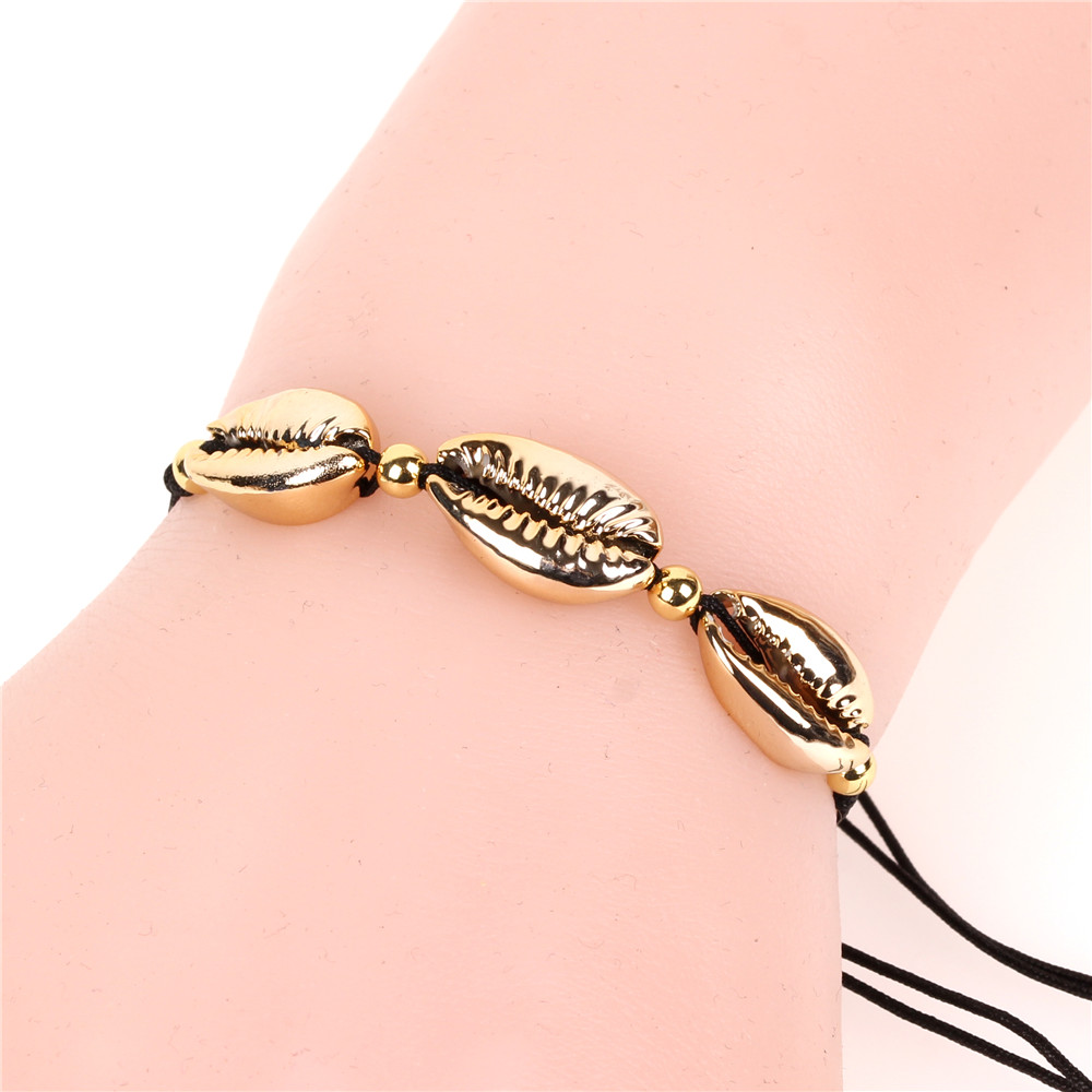 Popular Trend Girls Characteristic Woven Rope Bracelet with Three Shells