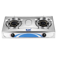 Stainless steel nonstick round royal quality new model 2 burner range gas stove