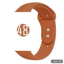 Мягкий силиконовый спортивный ремешок для Apple Watch 5 4 3 2 1 38 мм 42 мм ремешки резиновый ремешок для часов Iwatch series 5 4 40 мм 44 мм(Китай)