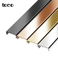 cupboard Metal U Channel aluminium Edge Trim edging strip Furniture accessories