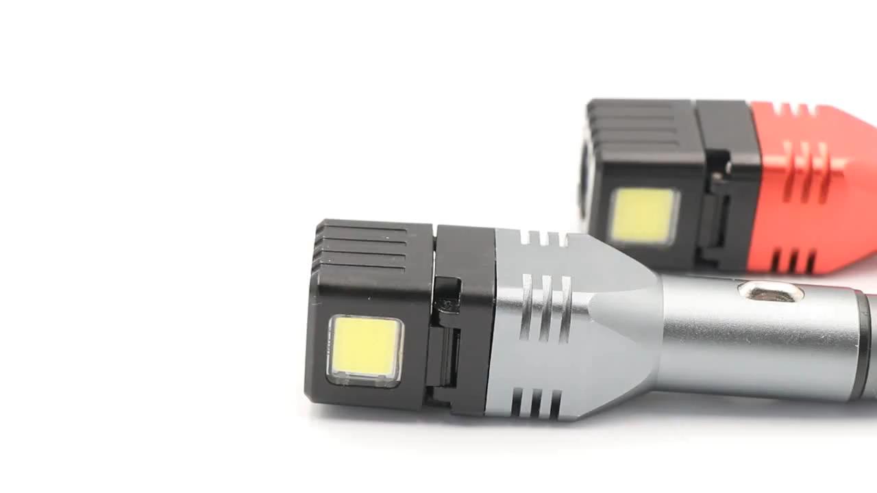 260 Lumen Multifunction LED MINI Hammer Flashlight With USB Output High Power Car Charger Work Light