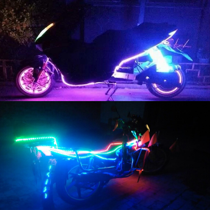 30cm LED Strip Underglow Car Lights Neon Lamp Underbody System Light For Motorcycle Car Decoration