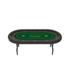 Oval [ Casino Table Top ] Casino Gambling Table YH Casino Quality Waterproof Oval Texas Poker Table Top With Folding Legs For Gambling