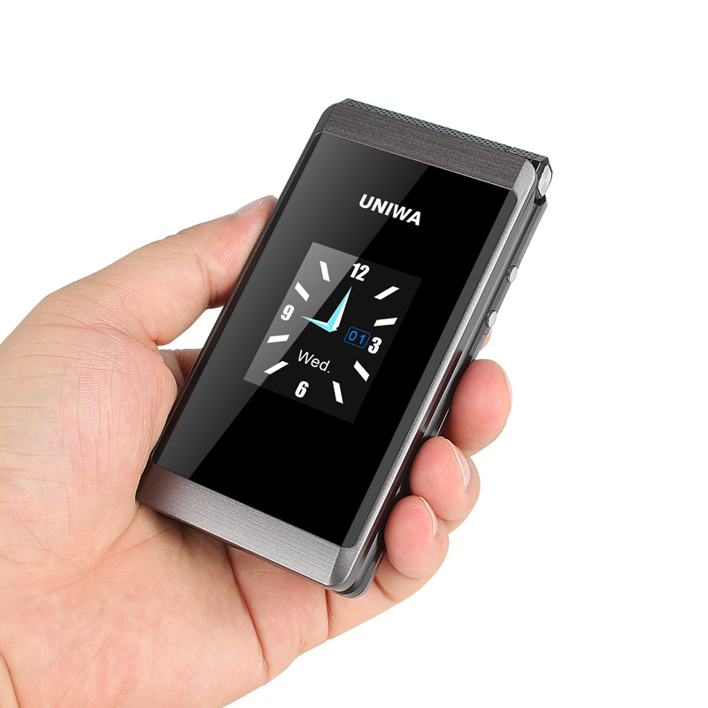 Wholesale UNIWA X28 2.8 inch Dual Screen Big Button Senior Folding Phone