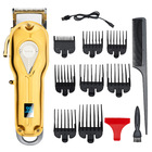 new all metal Cordless clipper 2500 mah 5 hours salon use hair cutting trimmer professional gold barber men hair clipper