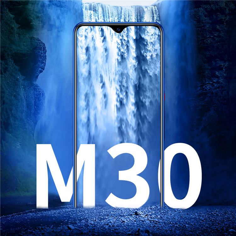Water-drop Screen smartphone M30 6.3 inch Android 9.0 mobile phone 6GB+128GB Face & Touch Fingerprint