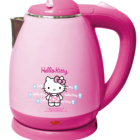 Wholesale custom 1.8L 304 stainless steel double layer cartoon electric kettle in be used as gifts